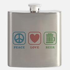 Peace Love Green Beer Flask