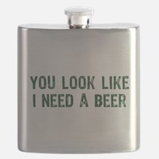 I Need A Beer Flask