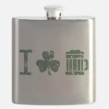 I Shamrock Beer [vintage] Flask