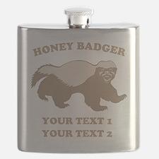 Personalize Honey Badger Flask