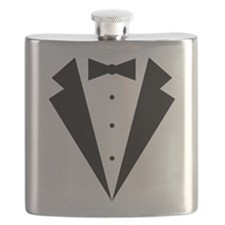 Minimalist Funny Tuxedo Flask