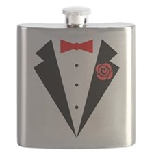 Funny Tuxedo [red bow] Flask