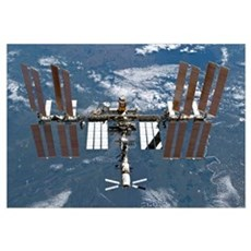International Space Station, 2011 Framed Print