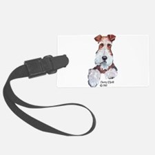 Wire Fox Terrier Portrait Luggage Tag