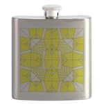 Yellow Owls Design Flask