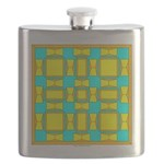 Dutch Gold And Yellow Design Flask