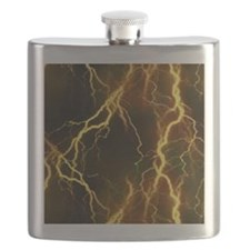 Gold Lightning Look Flask