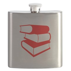 Stack Of Red Books Flask
