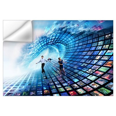 Information overload, conceptual image Wall Decal