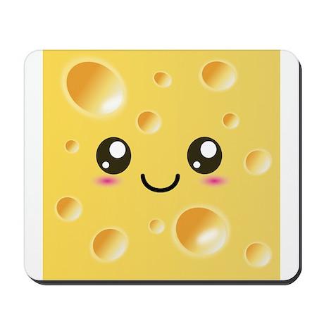 Cute Kawaii Happy Cheese Mousepad