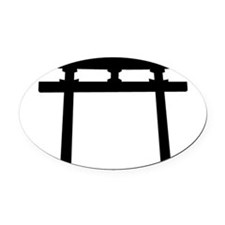 Shinto Arch Oval Car Magnet