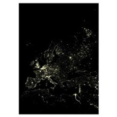 Europe at night Poster