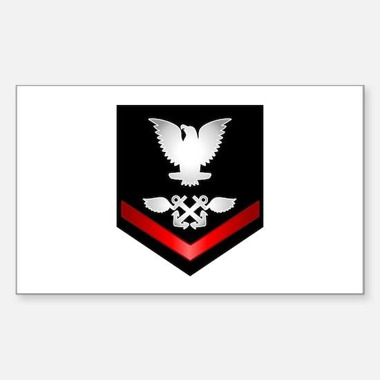 Navy PO3 Aviation Boatswain Sticker (Rectangle)