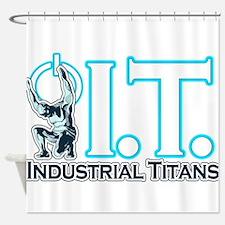 Industrial Titans Shower Curtain