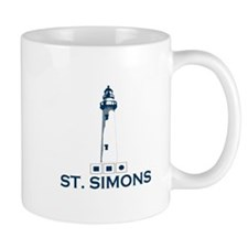 St. Simons Island - Lighthouse Design. Mug
