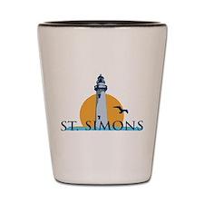 St. Simons Island - Lighthouse Design. Shot Glass
