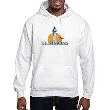 St. Simons Island - Lighthouse Design. Jumper Hoody