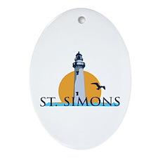 St. Simons Island - Lighthouse Design. Ornament (O