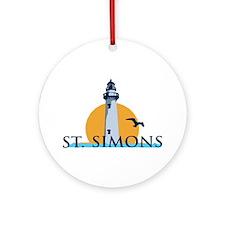 St. Simons Island - Lighthouse Design. Ornament (R