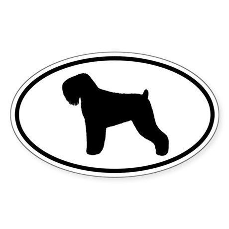Black Russian Terrier Sticker (Oval)