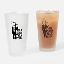 Kill Your Television Drinking Glass