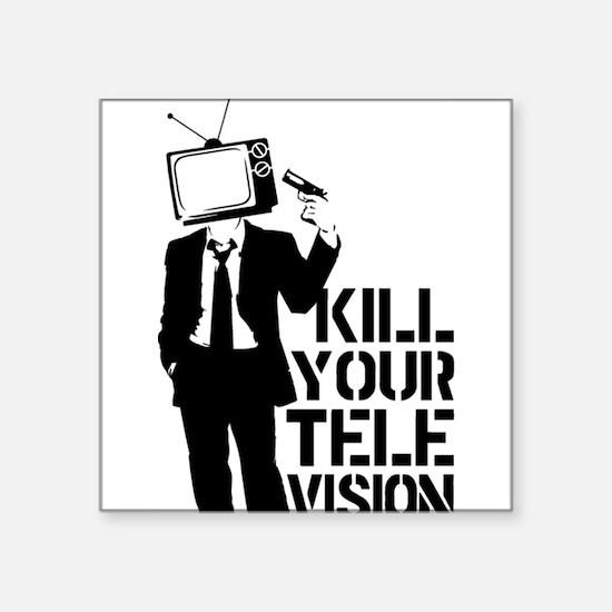 """Kill Your Television Square Sticker 3"""" x 3"""""""