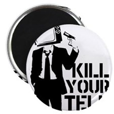 """Kill Your Television 2.25"""" Magnet (10 pack)"""