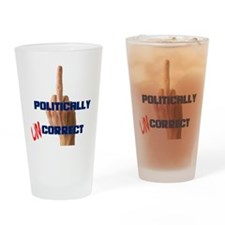 Politically Uncorrect Finger Drinking Glass