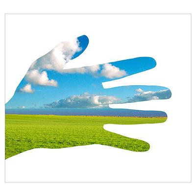 Environmental care, conceptual image Poster