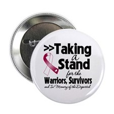 "Stand Throat Cancer 2.25"" Button"