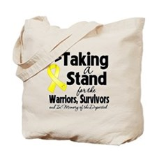 Stand Testicular Cancer Tote Bag