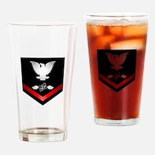 Navy PO3 Aviation Electronics Tech Drinking Glass