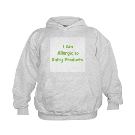Allergic to Dairy Products (g Kids Hoodie