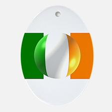 Irish Flag Ornament (Oval)