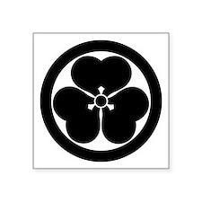 "Wood sorrel in circle Square Sticker 3"" x 3"""