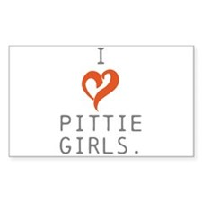 I heart Pittie girls. Decal
