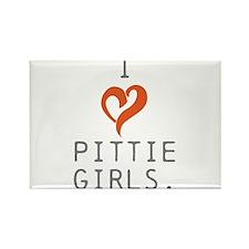 I heart Pittie girls. Rectangle Magnet