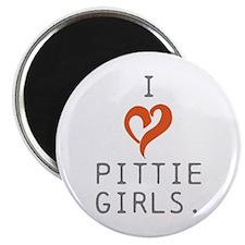 I heart Pittie girls. Magnet