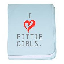 I heart Pittie girls. baby blanket