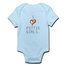 I heart Pittie girls. Infant Bodysuit