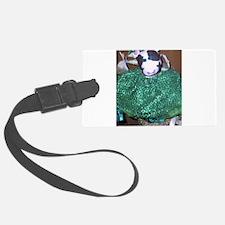 cow green 4.jpg Luggage Tag