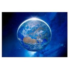 Earth from space, artwork Canvas Art