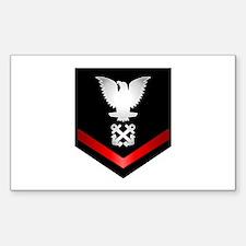 Navy PO3 Boatswain Sticker (Rectangle)