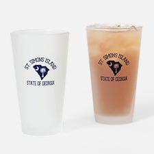 St. Simons GA - Map Design. Drinking Glass