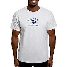 St. Simons GA - Map Design. T-Shirt