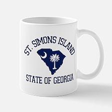 St. Simons GA - Map Design. Mug