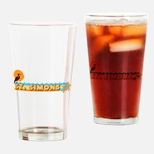 St. Simons GA - Beach Design. Drinking Glass