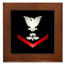 Navy PO3 Aircrew Survival Equipmentman Framed Tile