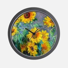 Monet - Sunflowers Wall Clock