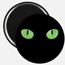 Green Cat Eyes Magnet